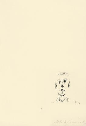 Giacometti Alberto, Tête d'homme