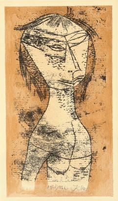 """Klee Paul, Die Heilige vom innern Licht, from """"Bauhaus-Drucke. Neue europäische Graphik. Erste Mappe. Meister des Staatlichen Bauhauses in Weimar"""""""