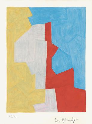 Poliakoff Serge, Composition jaune, rouge et bleue