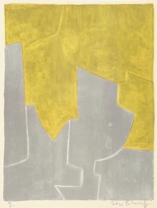 Poliakoff Serge, Composition jaune et grise