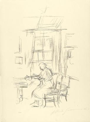 Giacometti Alberto, La mère de l'artiste assise devant la fenêtre à Stampa