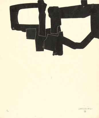 "Chillida Eduardo, Sheet from ""Meditation in Kastilien"""