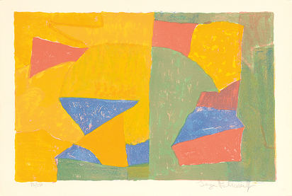 Poliakoff Serge, Composition jaune, verte, bleue et rouge