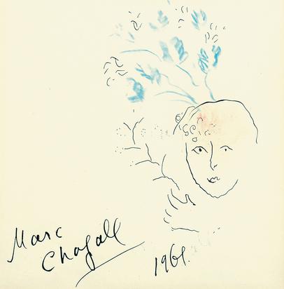 Chagall Marc, Tête fleurie