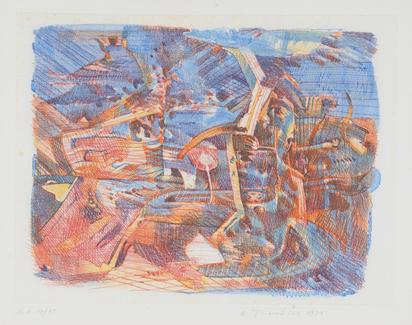 9 sheets: Vierwaldstätter, 1973; The Spirit, 1976; Dicipation des passions d'ici, 1975; Untitled, 1982; Bahre Bürde drüber hab, 1976; Untitled, 1979; Dolores, 1976; Untitled, 1979; Untitled, 1971