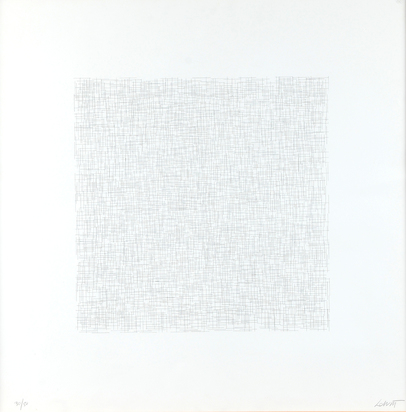 "LeWitt Sol, Plate #5, from ""Lines of One Inch in Four Directions and All Combinations"""