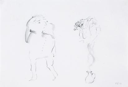 2 drawings: Die Nase frisst, 1969; Untitled