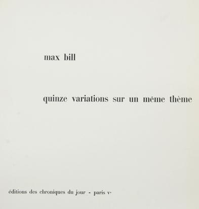 Folder. Quinze variations sur un même thème