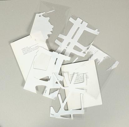 Duchamp Marcel, Portfolio. Suite d'ombres transparents