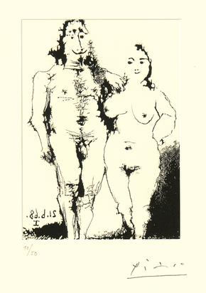 Picasso Pablo, Couple nu posant