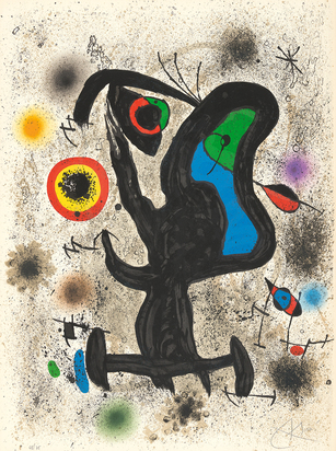 "Miró Joan, Sheet from ""Unesco"""
