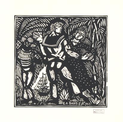 Dufy Raoul, 3 sheets: La danse; La pêche; l'amour