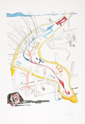"""Dalí Salvador, Les montres gélatines de l'espace - temps, from """"La conquête du cosmos"""""""