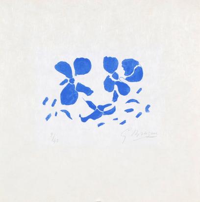 """Braque Georges, Fleurs bleues, from """"Si je mourais là-bas"""""""
