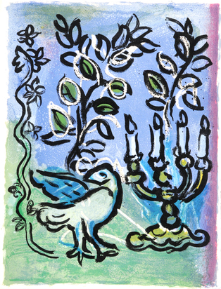 Chagall Marc, Portfolio. Vitraux pour Jérusalem