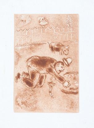 """Chagall Marc, 5 sheets from """"Les sept péchés capitaux"""""""