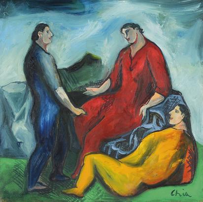 Chia Sandro, Una delle tante discussioni sulla pittura