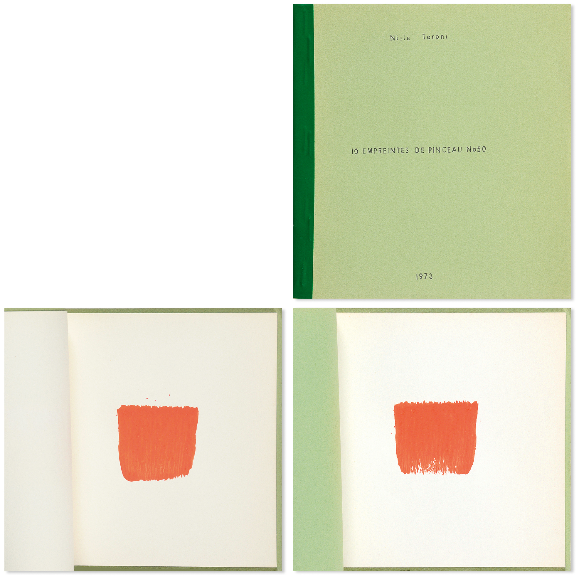 Toroni Niele, 10 empreintes de pinceau No 50