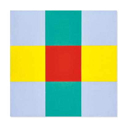 Lohse Richard Paul, Drei horizontale Gruppen mit rotem Zentrum