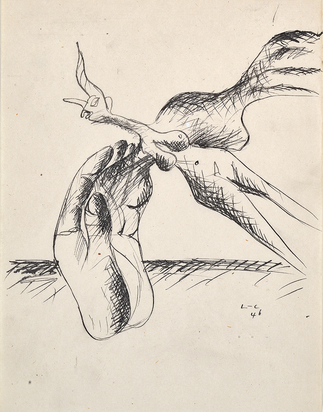 Corbusier Le, Licorne au corps de femme et main