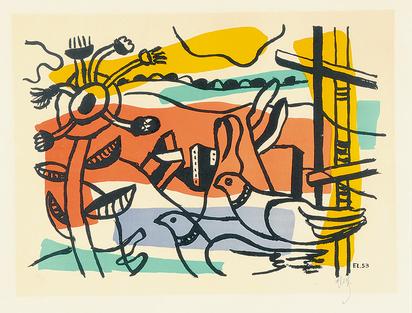 Léger Fernand, Composition aux deux oiseaux