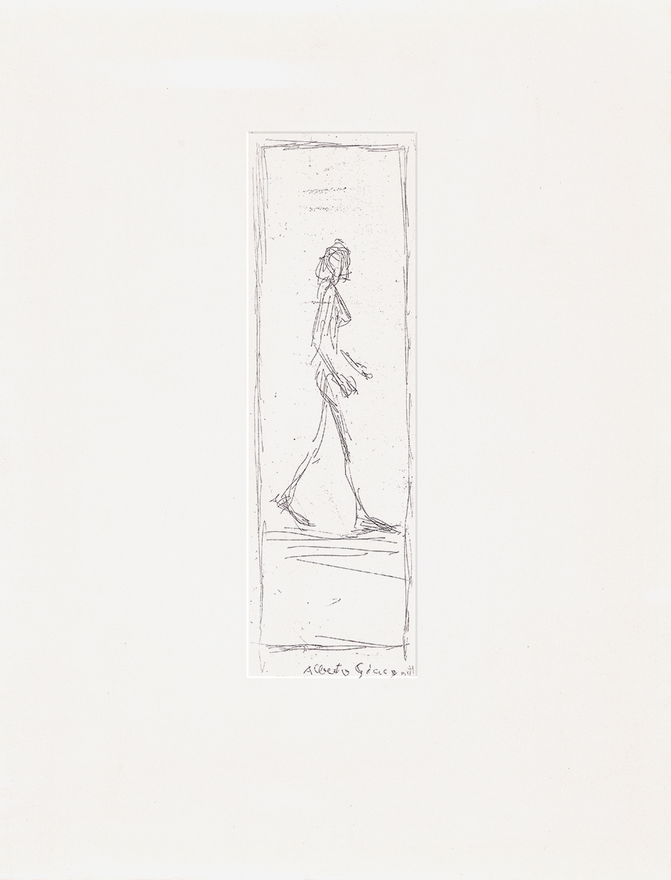 Giacometti Alberto, Femme nue marchant de profil à droite