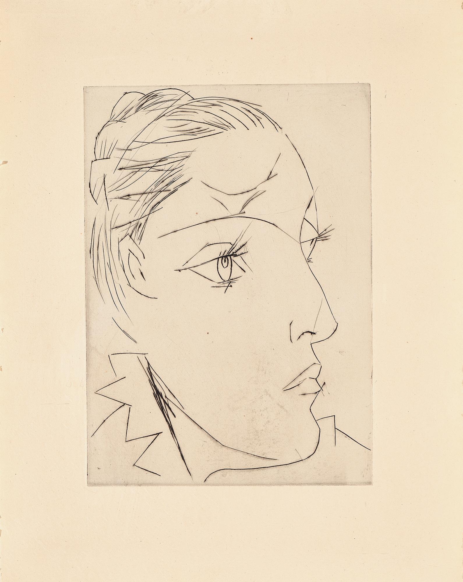 Picasso Pablo, Portrait de Dora Maar au chignon II