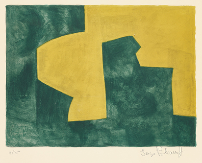 "Poliakoff Serge, Composition verte et jaune, from ""10 Lithographies"""