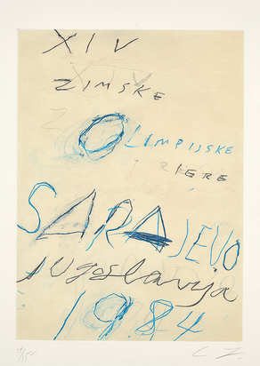 """Twombly Cy, Sarajevo, from """"Art and Sports"""""""