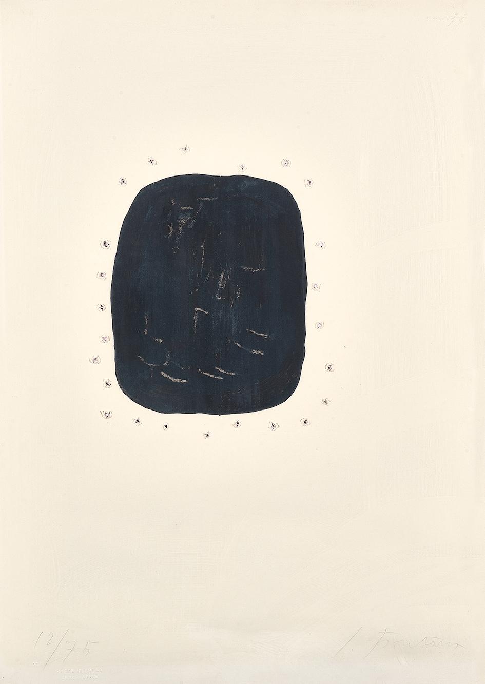 Fontana Lucio, Concetto spaziale (Noir avec trous extérieurs)
