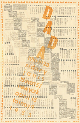 Duchamp Marcel, Plakat. Dada 1916-1923, Sidney Janis, New York
