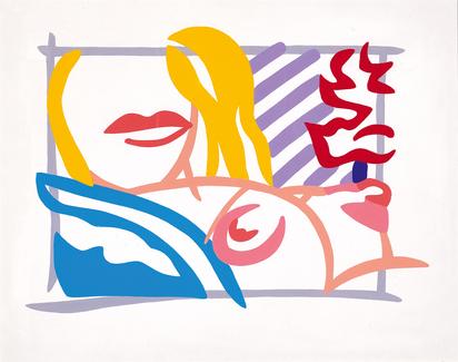 Wesselmann Tom, Study for Bedroom Blonde with Lavender Wallpaper