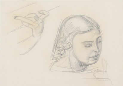 Barraud Maurice, Study with Girl Head