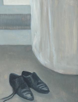 Güdemann Corinne, 2 paintings: Atelier / Jacke, 1995; Atelier / Schuhe