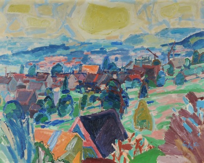 Gruber Hannes, Landscape with Houses