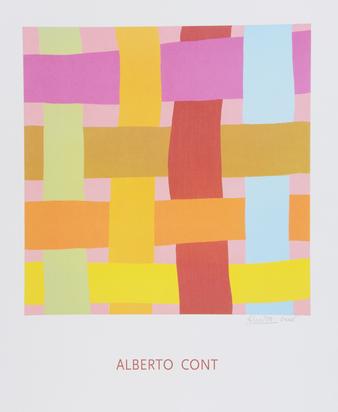 Konvolut, 5 sheets: G. Santomaso (2); H. Glattfelder; A. Cont; L. Feito Lopez
