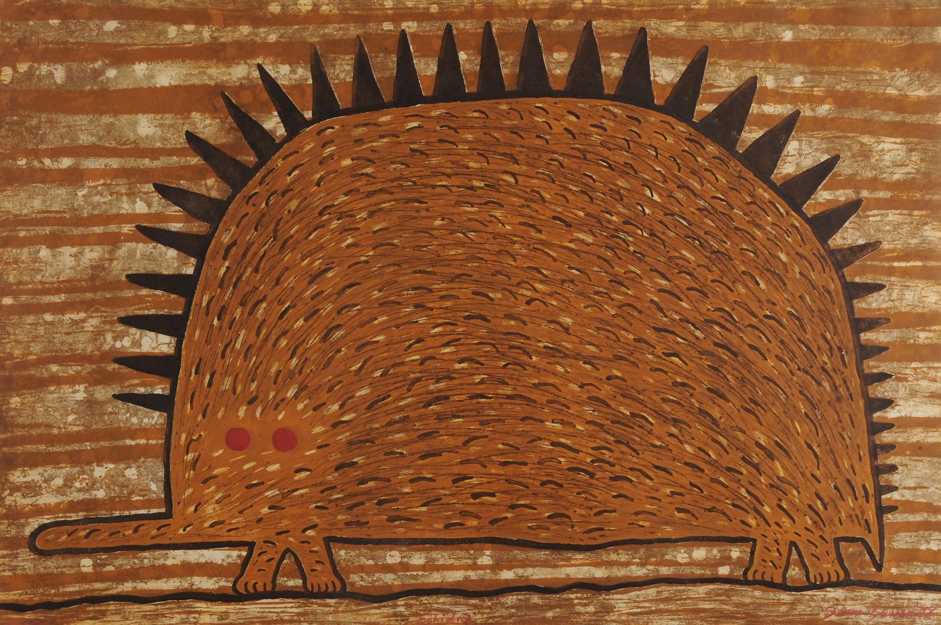 Bowen Dean, 5 sheets: Farmer Returning Home, 1995; Highway Bird, 1995; Echidna, 1998; Untitled, 1995 (2)