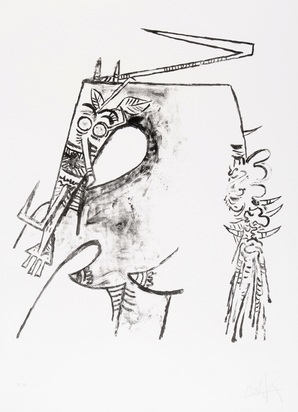 Lam Wifredo, 2 sheets: Figure blanche et noire, 1975; Figure ocre