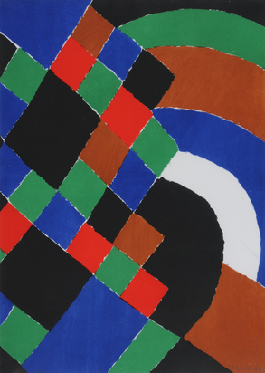 Delaunay Sonia, Carrés et demi cercles