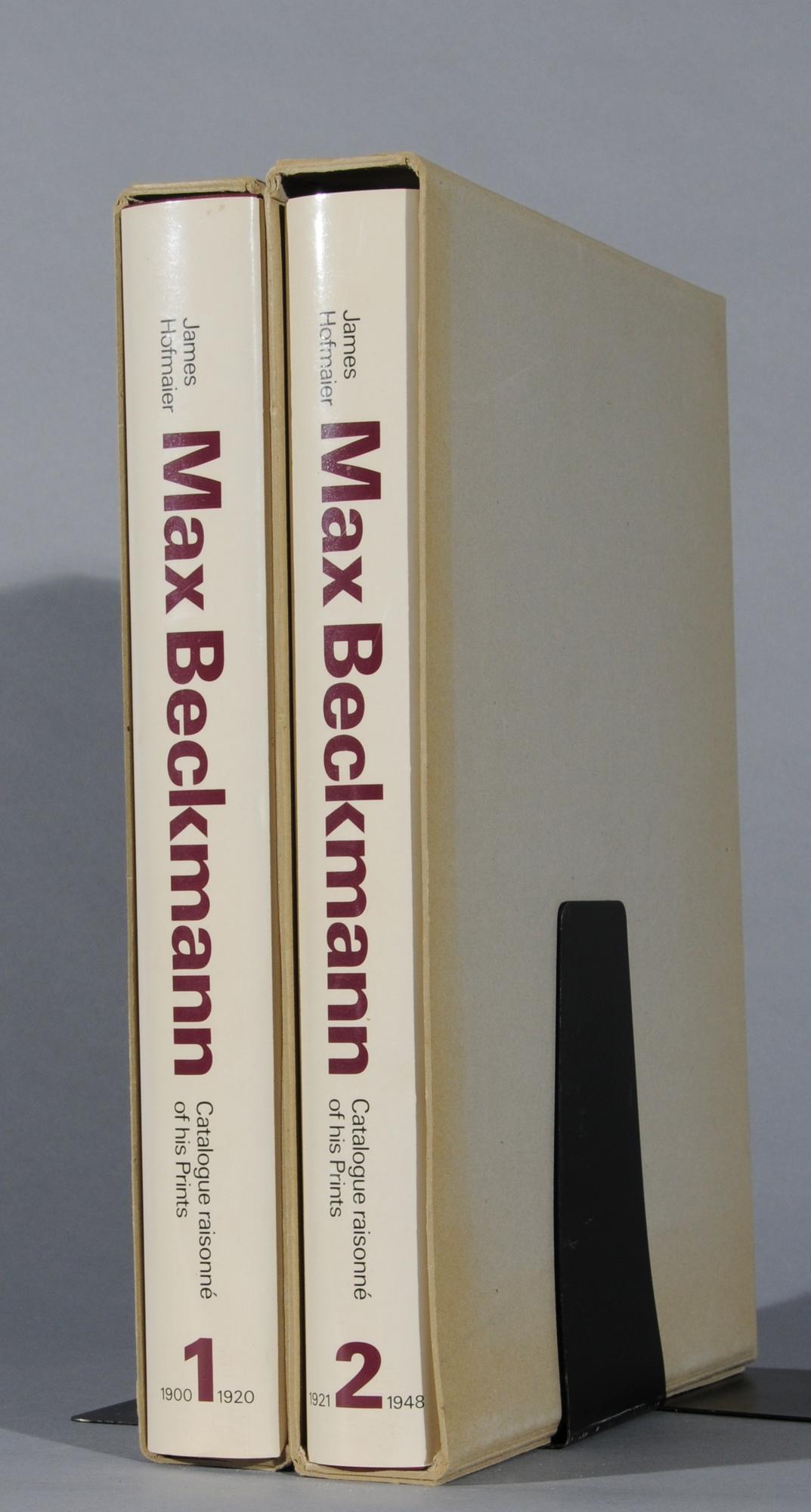 Beckmann Max, Catalogue Raisonné: James Hofmaier. Max Beckmann, Catalogue Raisonné of His Prints, Vol. 1 and 2