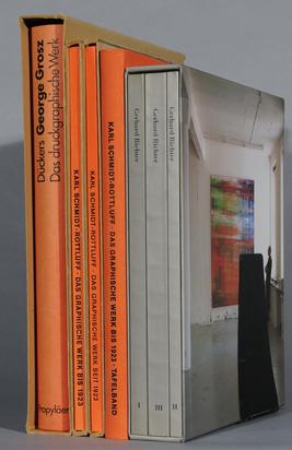 Konvolut, 7 Bücher:  - Werkverzeichnis. Alexander Dückers. Georges Grosz, Das druckgrafische Werk