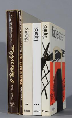 Konvolut, 5 books:  - Catalogue Raisonné. Mariuccia Galfetti. Tàpies, Das grafische Werk, 3 Vol: 1947-1978, (Núria Homs) 1979-1986