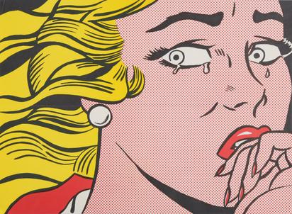 Lichtenstein Roy, Crying Girl (Leo Castelli Gallery Exhibition)