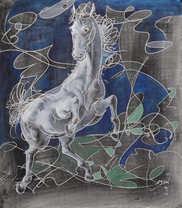Erni Hans, Steigendes Pferd