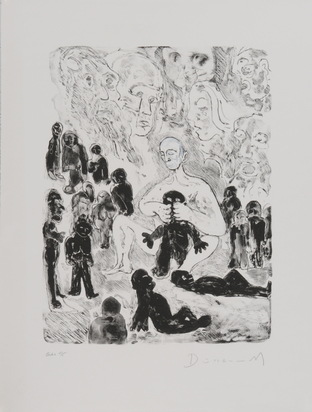 Dürrenmatt Friedrich, Prometheus, Menschen formend