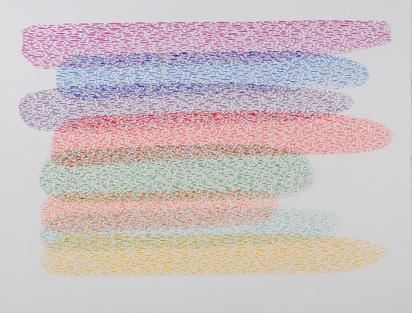 """Dorazio Piero, 3 sheets: Sheet from """"Sapsikos"""", 1976; Senza titolo, 1976; Palpito della luce, 1983"""