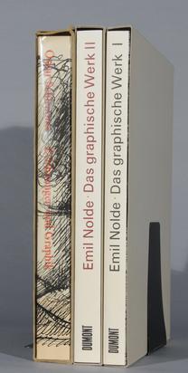Nolde Emil, 3 books: -  Catalogue Raisonné. Gustav Schiefler. Emil Nolde, Das grafische Werk, Vol. I and II