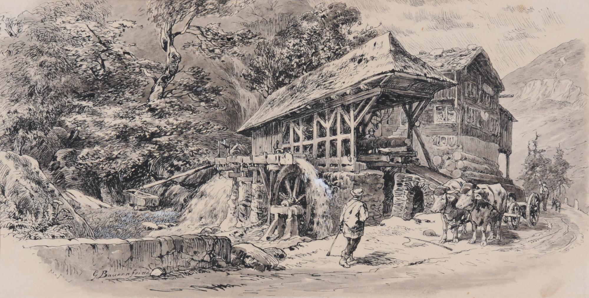 Bauernfeind Gustav, Die Mühle in Inschi