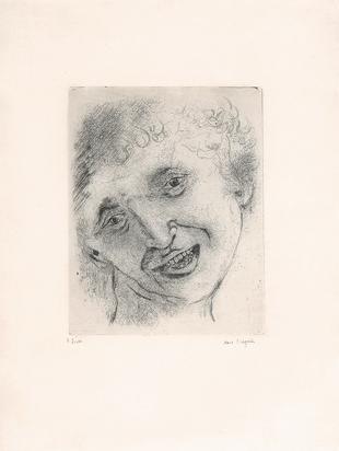 Chagall Marc, Autoportrait au sourire