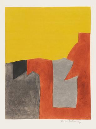 Poliakoff Serge, Composition grise, brune et jaune